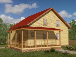 Дом из бруса проект Самуил - вид 1