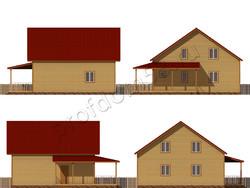 Дом из бруса проект Самуил - вид 2