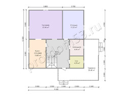 Дом из бруса проект Самуил - вид 3
