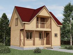Дом из бруса проект Савелий - вид 1
