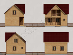 Дом из бруса проект Савелий - вид 2