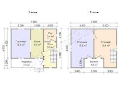 Дом из бруса проект Савелий - вид 3