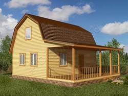 Дом из бруса проект Савва - вид 1