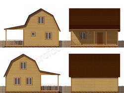 Дом из бруса проект Савва - вид 2