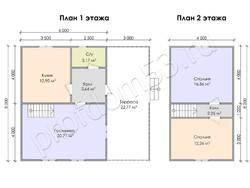 Дом из бруса проект Савва - вид 3