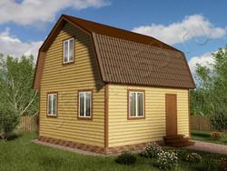 Дом из сухого бруса проект Семен - вид 1