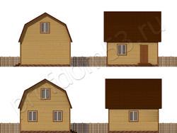 Дом из сухого бруса проект Семен - вид 2