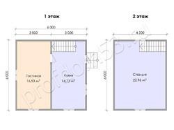 Дом из сухого бруса проект Семен - вид 3