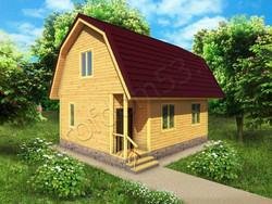 Дом из сухого бруса проект Сергей - вид 1