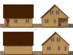 Дом из бруса проект Шарль - вид 2