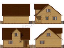 Дом из бруса проект Сидор - вид 2