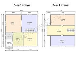 Дом из бруса проект Сидор - вид 3