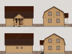 Дом из бруса проект Слава - вид 3