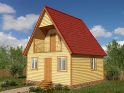 Дом из бруса проект Созон - вид 1
