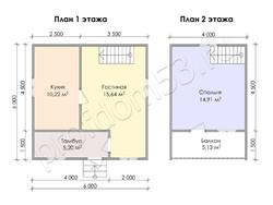 Дом из бруса проект Созон - вид 3