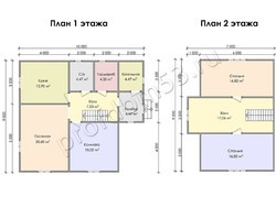 Дом из сухого бруса проект Спартак - вид 3