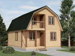 Дом из бруса проект Станислав - вид 1