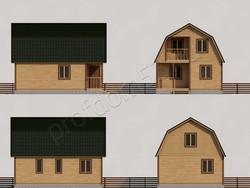 Дом из бруса проект Станислав - вид 2