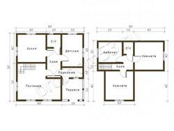 Дом из бруса проект Степан - вид 2