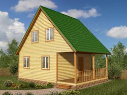 Дом из бруса проект Свирид - вид 1