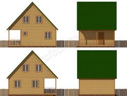 Дом из бруса проект Свирид - вид 2