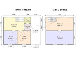 Дом из бруса проект Свирид - вид 3