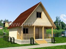 Дом из бруса проект Святослав - вид 1