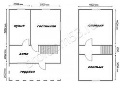 Дом из бруса проект Святослав - вид 2