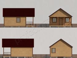 Дом из бруса проект Тимофей - вид 2