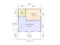 Дом из бруса проект Тимофей - вид 3