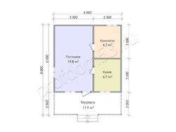 Дом из бруса проект Тимофей - вид 4