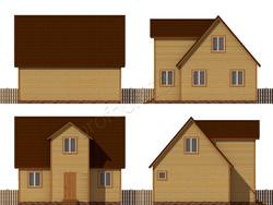 Дом из бруса проект Тихон - вид 2