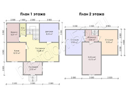 Дом из бруса проект Тихон - вид 3