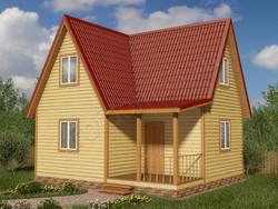 Дом из бруса проект Трифон - вид 1