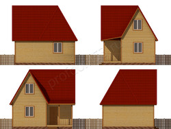 Дом из бруса проект Трифон - вид 2