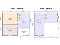 Дом из бруса проект Трифон - вид 3
