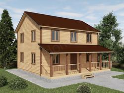 Дом из бруса проект Трофим - вид 1