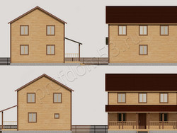 Дом из бруса проект Трофим - вид 2