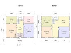Дом из бруса проект Трофим - вид 3
