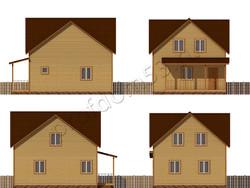 Дом из бруса проект Умар - вид 2