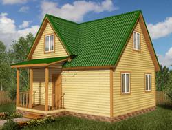 Дом из бруса проект Вальдемар - вид 1