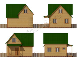 Дом из бруса проект Вальдемар - вид 2