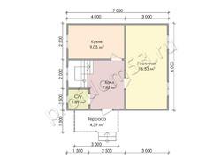 Дом из бруса проект Вальдемар - вид 3