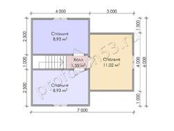 Дом из бруса проект Вальдемар - вид 4
