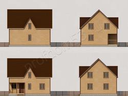Дом из бруса проект Валентин - вид 2