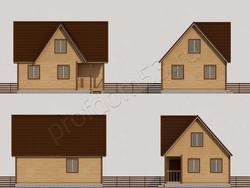 Дом из бруса проект Валерий - вид 2