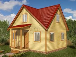 Дом из бруса проект Вардан - вид 1