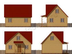 Дом из бруса проект Вардан - вид 2