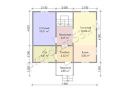Дом из бруса проект Вардан - вид 3