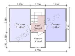 Дом из бруса проект Вардан - вид 4